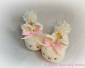 Bunny Slippers, Baby Bunny Slippers, Easter Booties