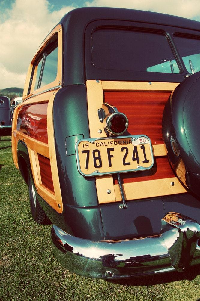 Vintage Woody Car