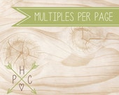 ADD ON >>> 2 or 4 Per Page <<< Save on Paper with Multiples Per Page >>> DIY <<<