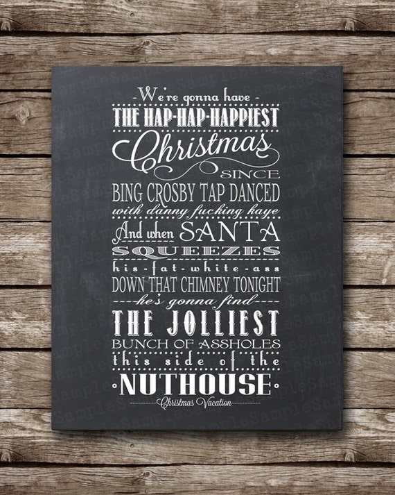 Christmas Vacation Quote - Clark Griswald - Printable Poster - Multiple sizes