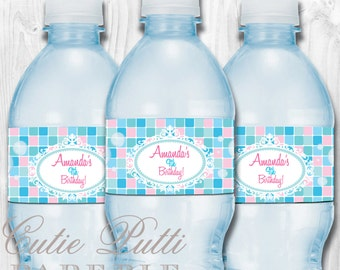 AMY ATLAS FEATURED Spa Party Collection-Printable Water Bottle Labels-Cutie Putti Paperie