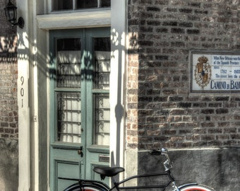Bicycle Wall Art - Old Bike - Gift - New Orleans - Prints - Poster -  Photograph - Photo