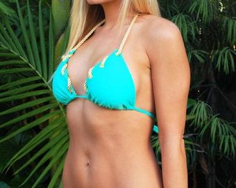 Swimsuit Nautical Bikini - Seafoam Mint