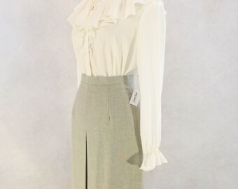 "1970s Grey Skirt by ""Pant Man"""