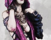 Change is coming print of Morrigan the witch from Dragon Age