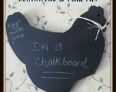 Chalkboard, Animal Chalkboard, kitchen, sheep, country kitchen, primitive pig, primitive chicken, rooster