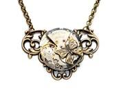SALE BUTTERFLY Steampunk Necklace Steampunk Jewelry Steam Punk Necklace Antique Brass Steam Punk Steampunk Jewelry By VictorianCuriosities