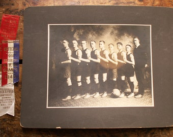 Vintage High School Basketball Team Photo - Great Guy Gift from 1920
