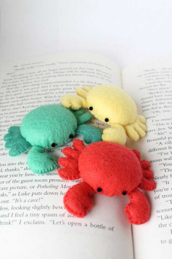Handmade Organic Catnip Crab Toy - Four In A Pack