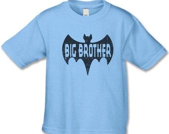 Big Brother Shirt - Superhero Big Brother T-Shirt - Pregnancy Announcement Shirt -  Big Brother Announcement - Personalized Sibling Shirt
