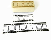 Film Strip Stamp, Photography Pattern, Wood Mounted Rubber Stamp