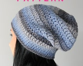 Crochet Slouchy Beanie Pattern, Chi-Town Hat, PATTERN PDF Download,  Adult Crochet Hat Pattern
