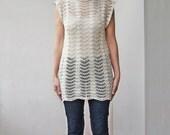 Crochet Top Pattern, crochet tunic, ripples top, waves, crochet tank top, crochet dress, beach cover up, DIY, photo tutorial