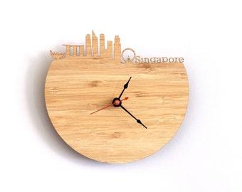 Wall Clock - Singapore Skyline