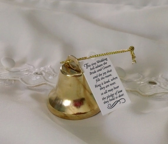 Gold Wedding Bells: Kissing Bells Gold Wedding Favors Set Of 24 Reception