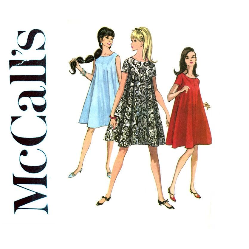 Mccall S 8402 1960s Tent Trapeze Dress Pattern Bust 31 Mod