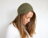 Lace Flower Beret - Green