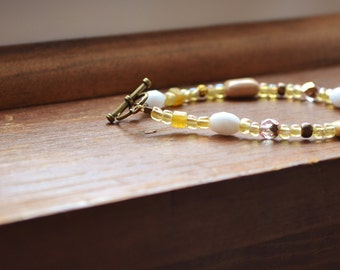 Beaded Bracelet in Neutrals