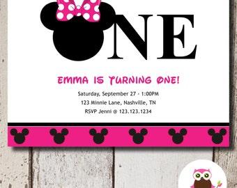 Minnie mouse 1st birthday invitations gangcraft minnie mouse st birthday invitation etsy birthday invitations filmwisefo