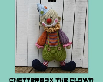 PATTERN - Chatterbox the Clown - crochet pattern, amigurumi pattern, pdf