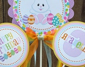 Personalized 3 Piece Centerpiece -Pastel Easter Collection -Easter Bunny -Birthday -Baby Shower -Table Decoration -Candy Dessert Table