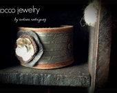 Mixed Metal and Leather Cuff Bracelet