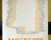 Mississippi State Typographical Poster