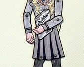 Luna Lovegood Articulated Paper Doll with Quibbler, Spectrespecs and Lion Hat