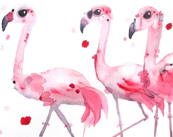 10 x 8 Flamingo Art Print