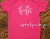 Embroidered Children's Shirt or Baby Onesie with Name, Initial, or Monogram