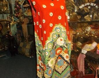Flower Power Hippie Sun Dress 1960