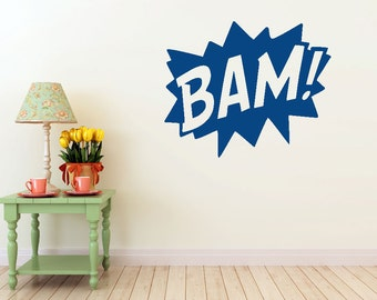 Bam Comic vinyl wall decal- interior design, sticker art, room, home and business decor