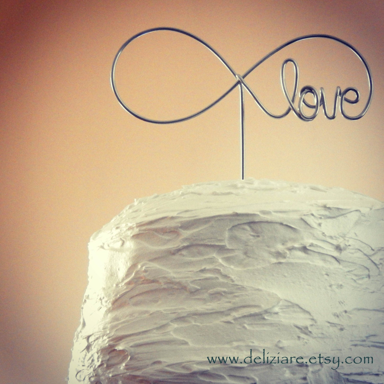 Our Love is Infinite Wedding Cake Topper wire infinity ...