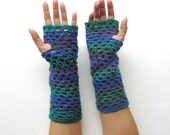 christmas gift, mittens, Fingerless gloves, Crochet fingerless glove,  Fingerless mittens, long fingerless glove, arm warmers