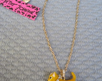 The Golden Tan Chihuahua Dog Pendant with Crystal Collar