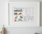 Vintage French Primary School Alphabet charts, Lesson 19