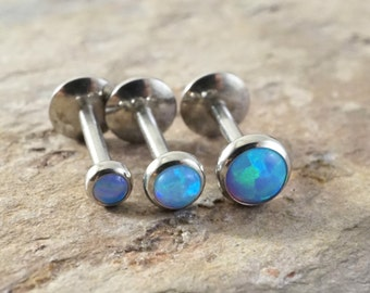 Tragus Earring Blue Opal Tragus Stud Tragus Jewelry
