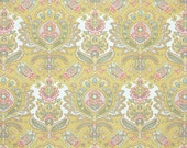 Vintage Wallpaper by the Yard 70s Retro Wallpaper – 1970s Pink Yellow and Blue Damask