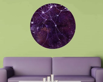 The Auriga Nebula Wall Sticker - Ethereal Art by Elise Mahan