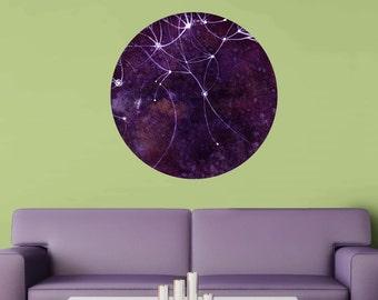 The Auriga Nebula Wall Sticker - Ethereal Art by Elise Mahan