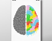 A Brain Of Two Halves  - Giclée Print by Tim Easley
