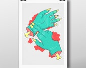 First Aid For Zombies - Giclée Print by Tim Easley