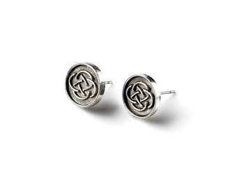 Celtic Stud Earrings - Accessories - Women's Jewelry - Gift Idea - Handmade - Gift Box Included