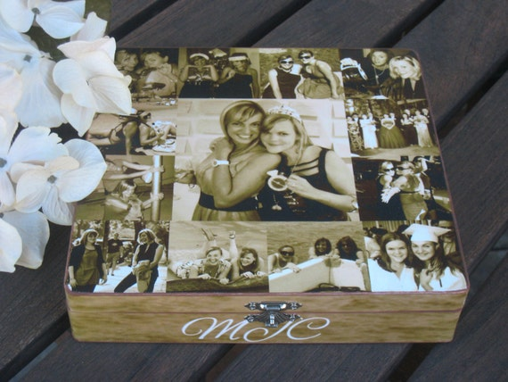Unique Wedding Gifts For Best Friend: Maid Of Honor Collage Keepsake Box Sister Gift Personalized