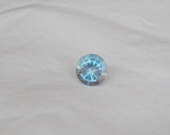 12x12mm Exquisite Cut Amazing Blue Topaz, Round Cut, Fancy Cut, American Cut 9 cts