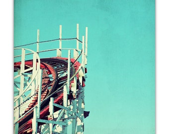santa cruz art // santa cruz photography // santa cruz boardwalk - Big Dipper, ready-to-hang canvas photography