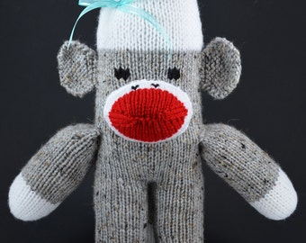 Eric & Cydney the Red Rockford Heel Sock Monkey - Small and Large Stuffed Animal