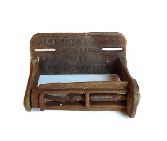 Items Similar To Antique Cast Iron Toilet Paper Holder