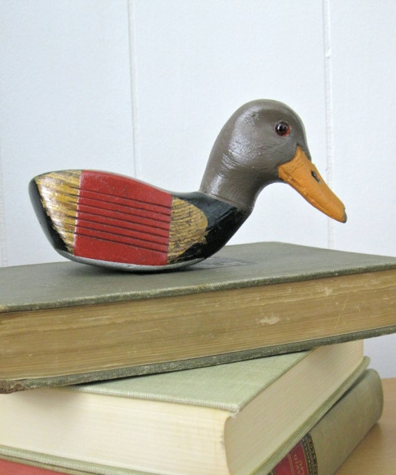 Duck Home Decor: Red And Black Duck Repurposed Golf Club Outdoor By
