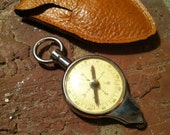 Germany Vintage Compass and Map Measure Leather Case